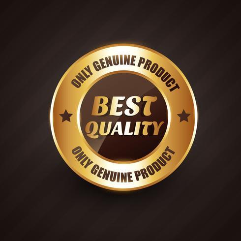 badge de qualité supérieure avec un design de produits authentiques