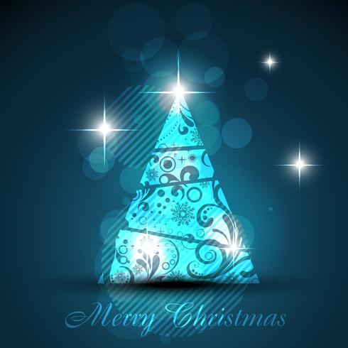 árbol de navidad brillante