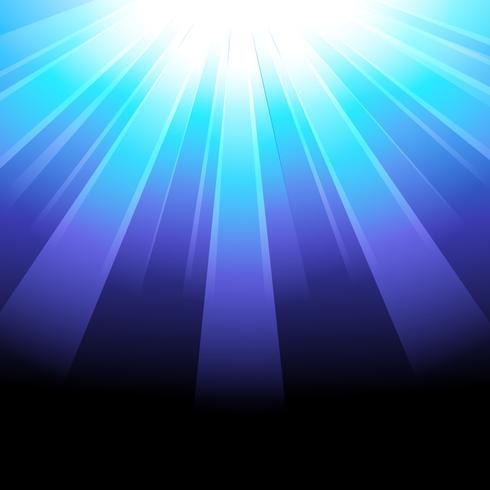 sfondo di raggi blu