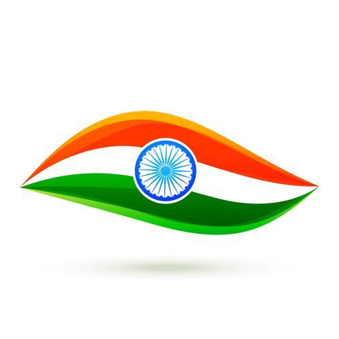 diseño de estilo de bandera india vector simple
