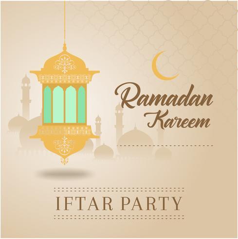 Cartão de Ramadã Kareem e fundo islâmico com padrão árabe