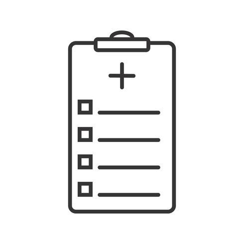 Linea nera del grafico medico icona