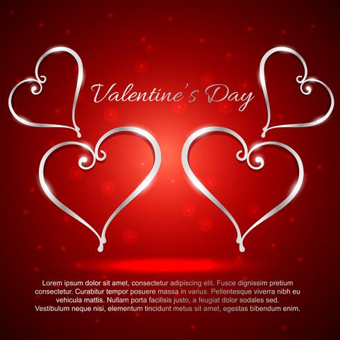 illustrazione di cuori di giorno di San Valentino