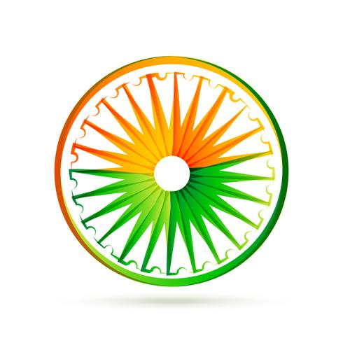 indian flag wheel design with tri colors
