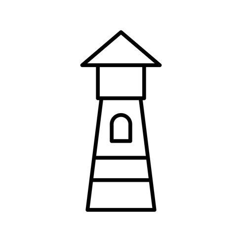 Icona del faro linea nera