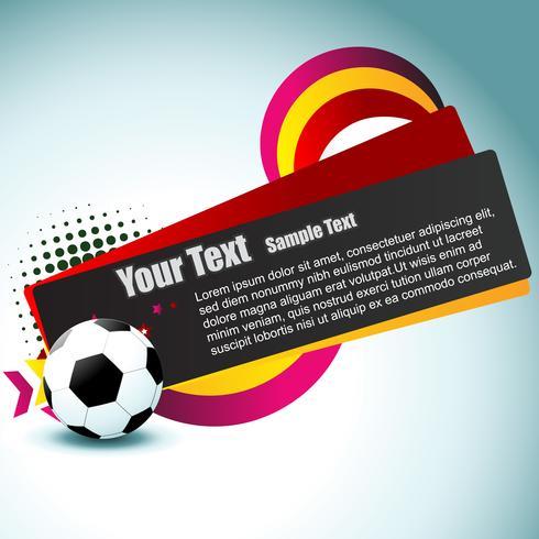vector de fútbol diseño artístico