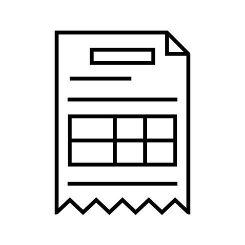 Invoice Line Black Icon