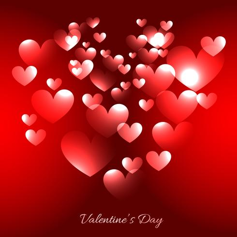 illustrazione dei cuori di giorno di S. Valentino nella priorità bassa rossa