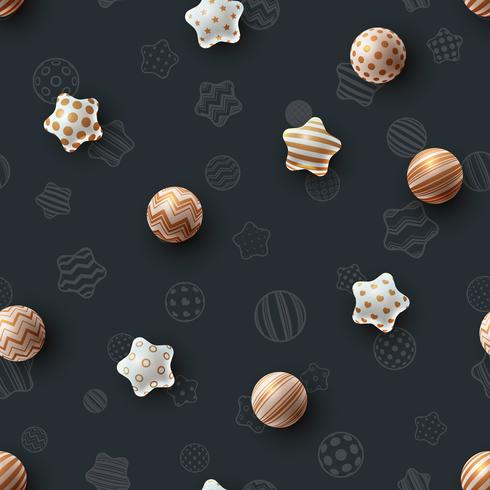 Happy birthday. Beautiful seamless pattern. vector