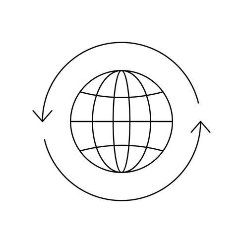 Globe Line Black Icon