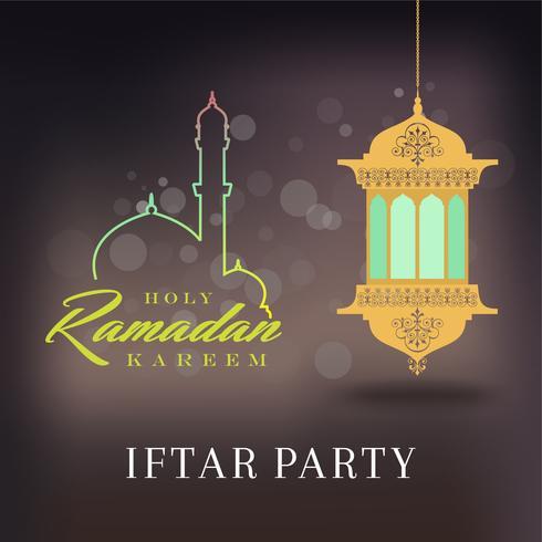 Ramadan Kareem Hälsningskort och Bakgrund Islamic med arabisk mönster