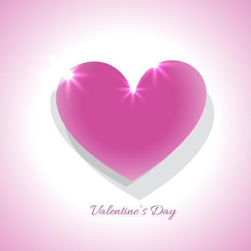 Valentijnsdag roze hart illustratie