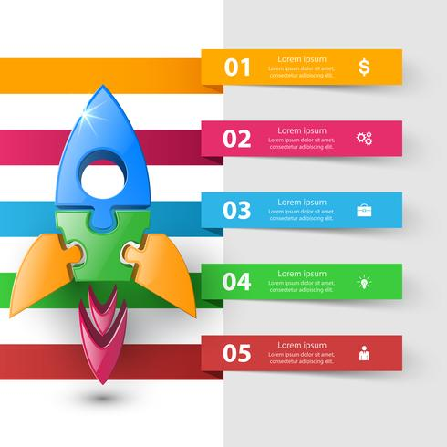 Rocket icon. Abstract  illustration Infographic.