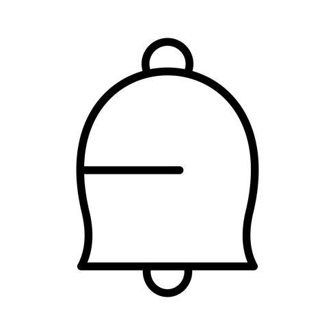 Icona di notifica linea nera