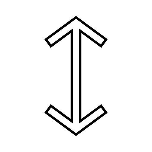 Up Down Line Black pictogram