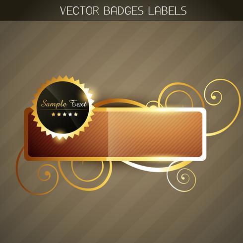 étiquette dorée