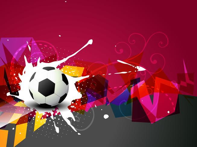 diseño de fútbol abstracto vector