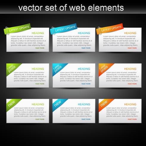 conjunto de vetores de elementos da web