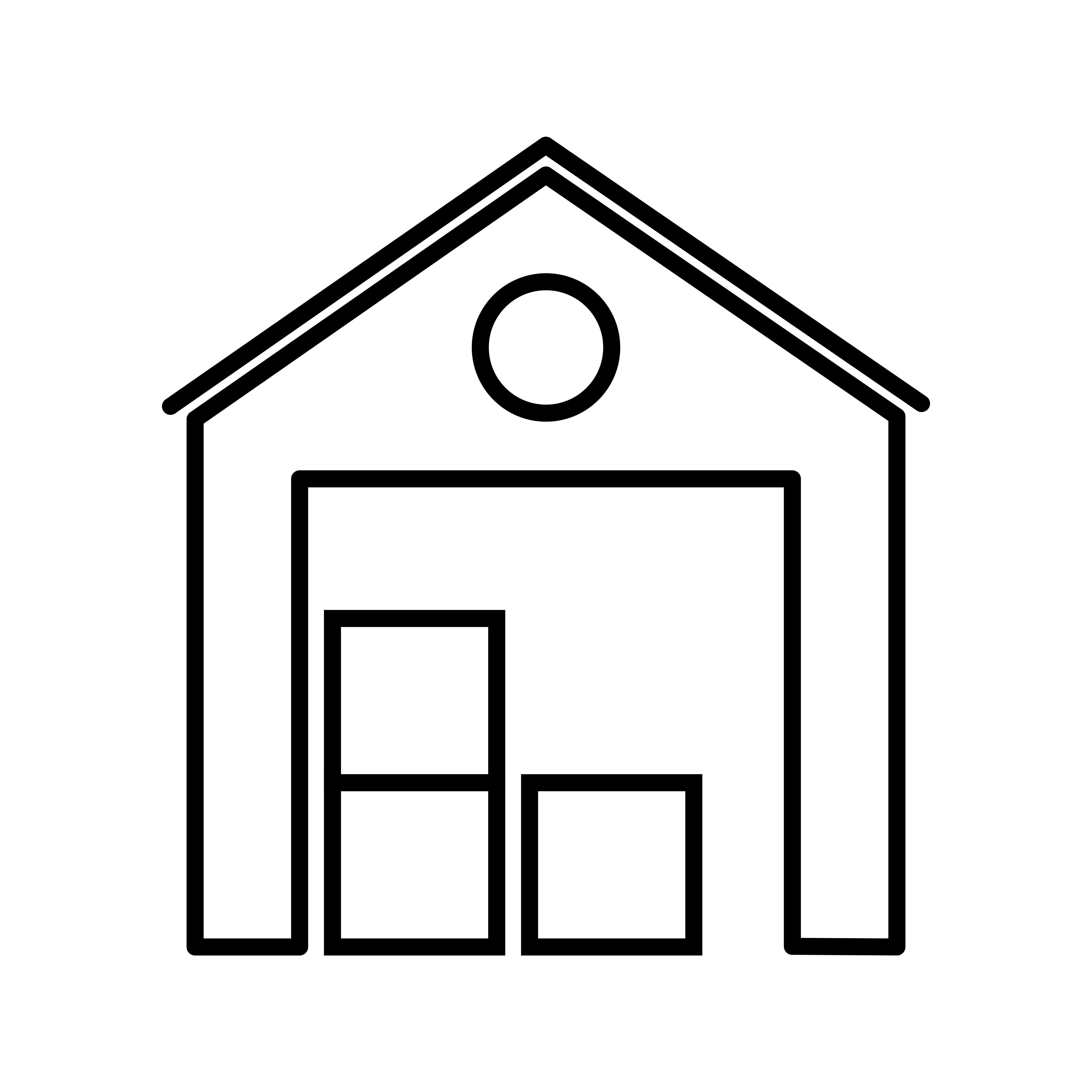 Warehouse Line Black Icon Download Free Vector Art