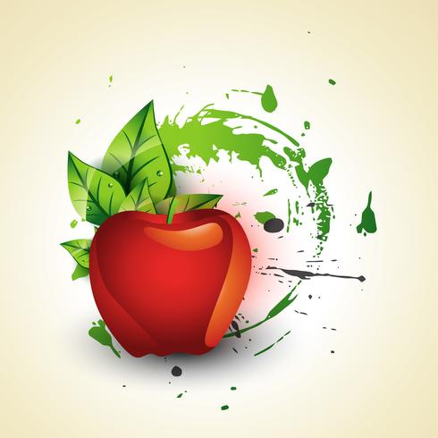 vettore mela rossa