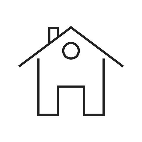 Casa ícone preto linha