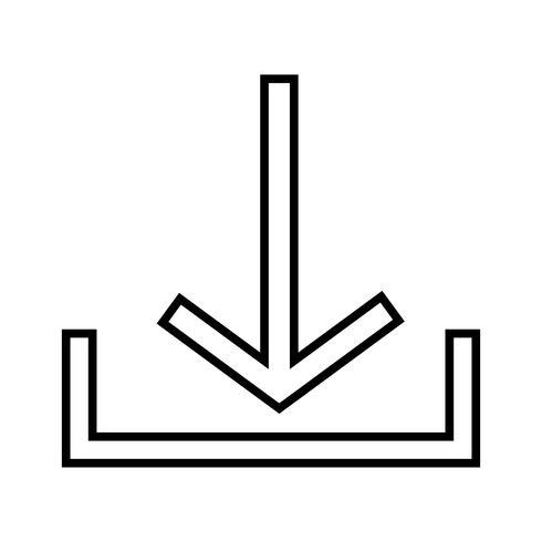 Icône de la ligne noire vecteur
