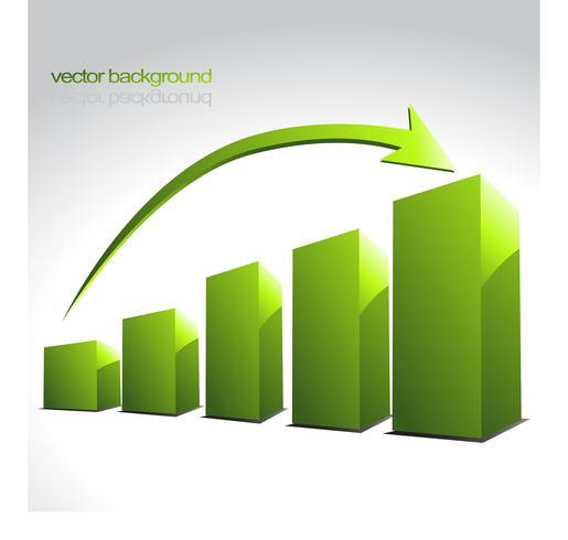 Vektor grüne Diagrammbalken
