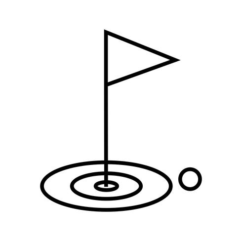 icono de línea de golf negro