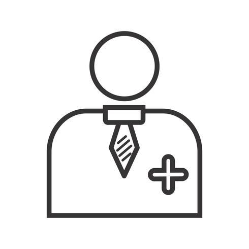 Doctor Line Icon Negro vector