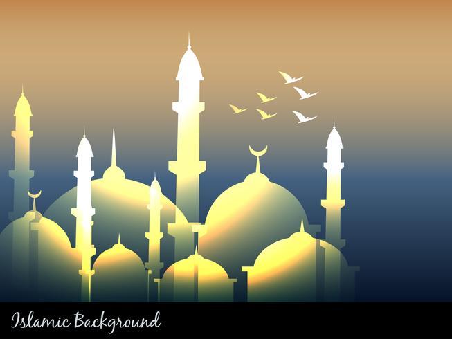 mezquitas islámicas vector