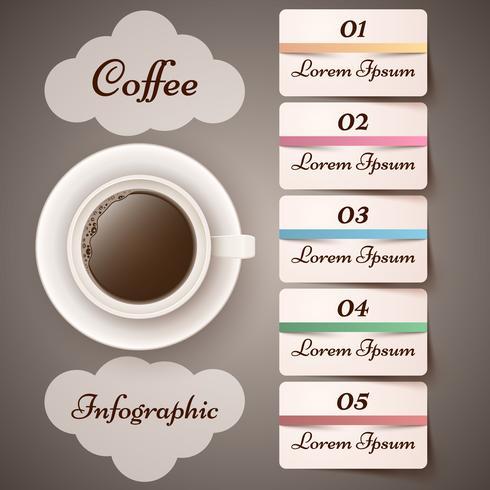 Tasse, Kaffee, Tee - Geschäft Infographik. vektor