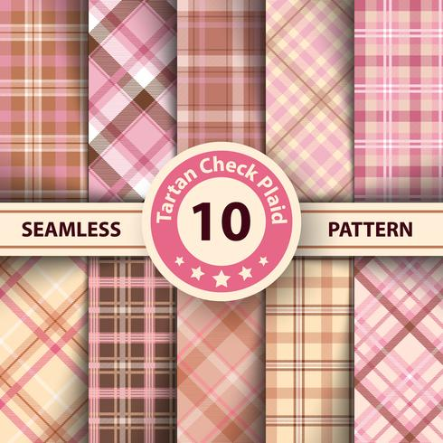 Classic tartan, Merry Christmas check plaid seamless patterns. vector