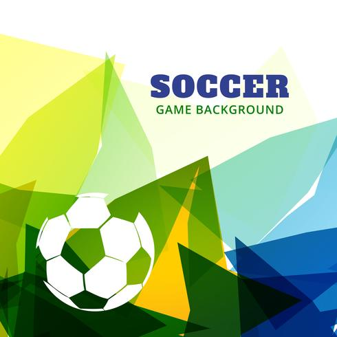 diseño de juego de fútbol abstracto