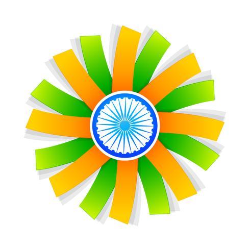 Indisch vlagstijlontwerp met wiel