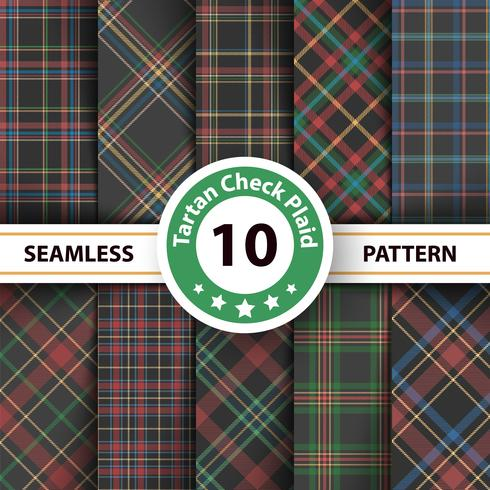 Classic tartan, Merry Christmas seamless patterns. vector