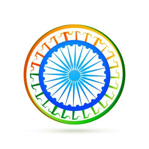 Concepto de diseño de la bandera India con rueda azul