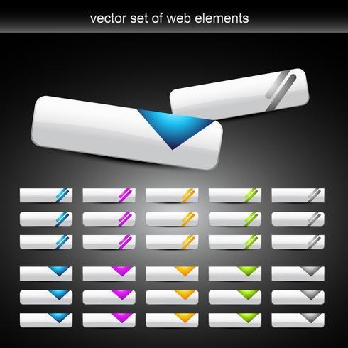 botón de vector de estilo diferente set 2