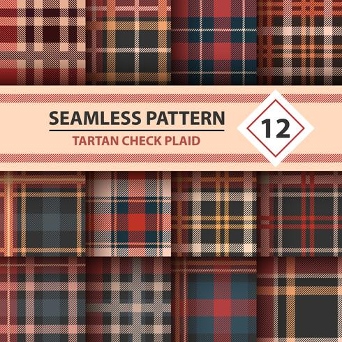 Classic tartan, Merry Christmas check plaid seamless patterns.