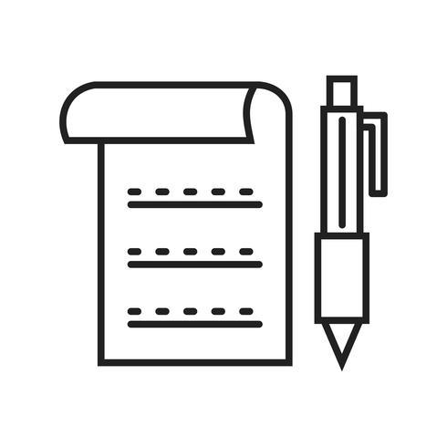 Icono de línea de documento negro