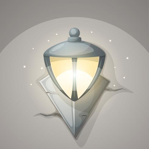 Lamp muur cartoon afbeelding.