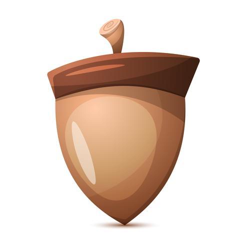 Dibujos animados de nueces. Comida sana. vector
