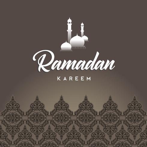 Ramadan Kareem wenskaart en achtergrond islamitische met Arabisch patroon