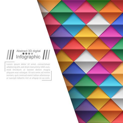 Papieren origamistijl - papieren achtergrond.