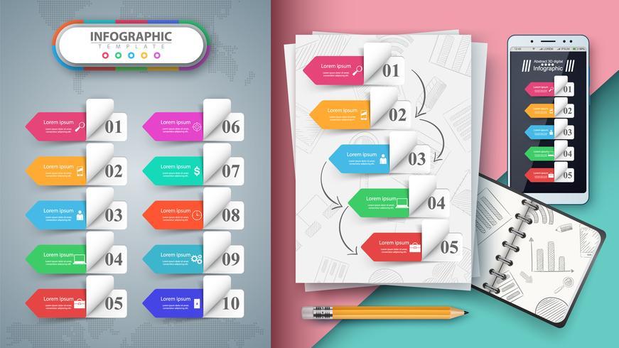 Geschäftsinfografik. Modell für Ihre Idee.