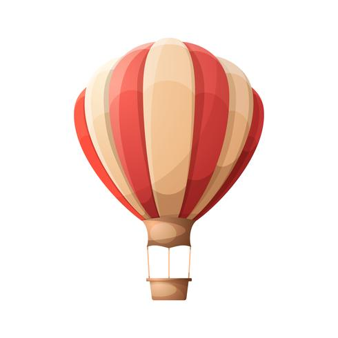 Cartoon air balloon.