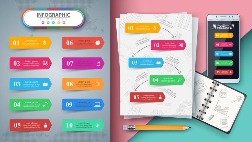 Business infographic. Mockup for your idea.