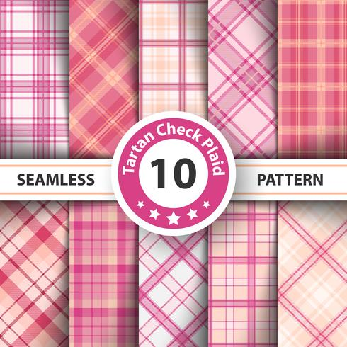 Classic tartan, Picnic tablecloth, Gingham, Buffalo, Lamberjack, Merry Christmas check plaid seamless patterns. vector