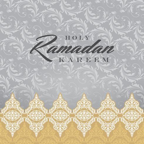 Ramadan Kareem Greeting Card und Hintergrund islamisch mit arabischem Muster