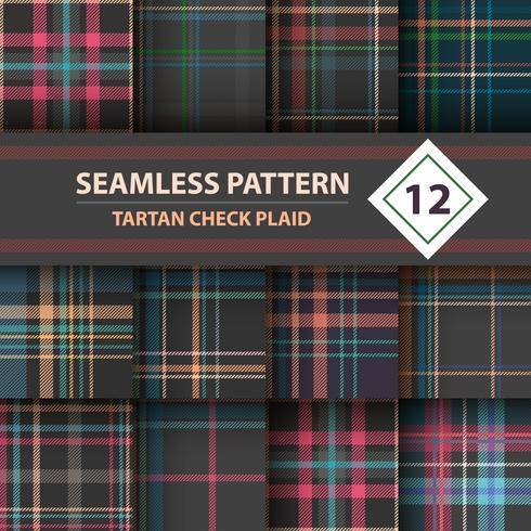 Classic tartan, Merry Christmas seamless patterns. vector