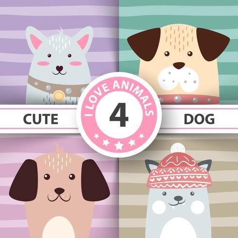 Lindos, divertidos, bonitos personajes de perro.